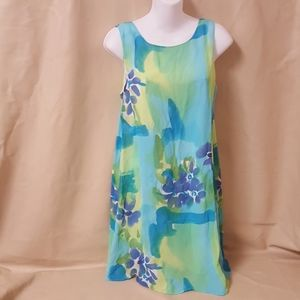 Multi colored dress by Chelsea Roussos size 12 p